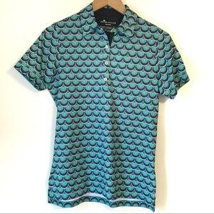 NWOT Peter Millar Moisture Wick Deco Collar Shirt